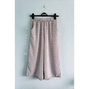 Striped High Waist Wide Leg Culotte Beach Pants